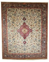 Antique Persian Kashmar with Signature