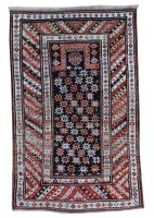 Antique Caucasian Kazak Prayer Rug circa 1880