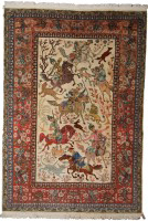 Traditional Indian Hunting Design Rug