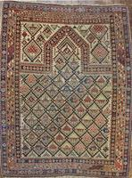 Antique Caucasian Daghestan Prayer Rug circa 19th Century