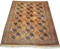 Antique Afghan Ersari Rug