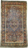 Antique Persian Kashan Mohtashem Rug