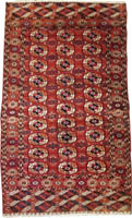 Antique Persian Turkaman Rug