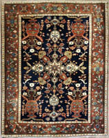 Antique Persian Faraghan Rug