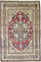 Antique Persian Raver Kerman Rug